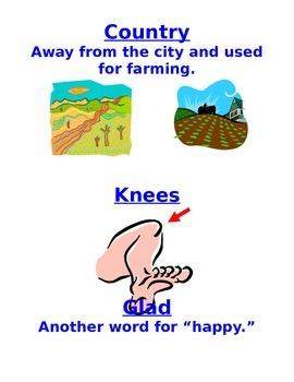 Houghtin Mifflin Kinder Vocabulary Cards