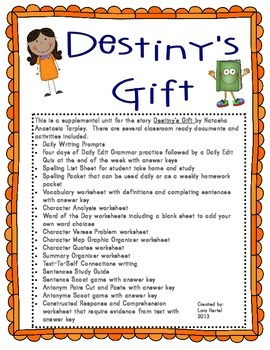 Houghton Mifflin Harcourt Journeys 2014 Grade 3 Destiny's Gift