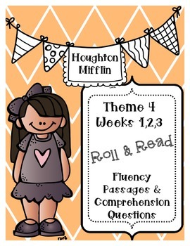 Houghton Mifflin 1st Grade Fluency {Theme 4} CCSS
