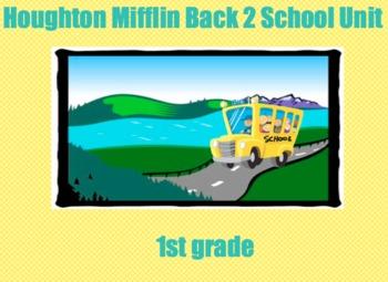 Houghton Mifflin 1st grade Back to School Alphabet Review
