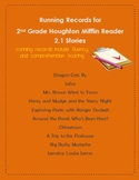 Houghton Mifflin 2nd Grade 2.1 Reader Running Records for