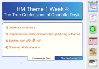 Houghton Mifflin 6th Gr. Theme 1 Lesson 4 Charlotte