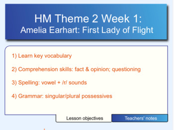 Houghton Mifflin 6th Gr. Theme 2 Week 1 Amelia