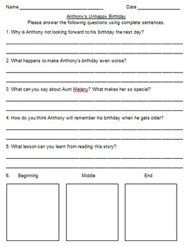 Houghton Mifflin Comprehension Sheets for Leveled Readers (Editable!)