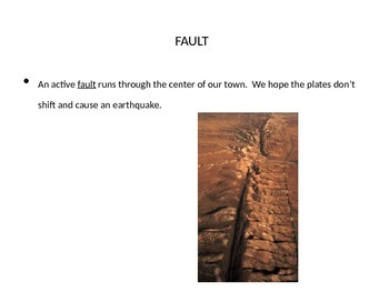 Houghton Mifflin Earthquake Terror Vocabulary PowerPoint