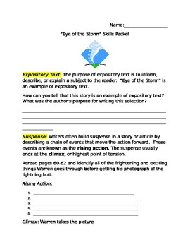 Houghton Mifflin Eye of the Storm Skills packet