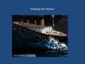 Houghton Mifflin Finding the Titanic Vocabulary Power Point