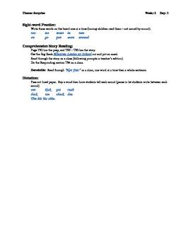 Houghton Mifflin First Grade Explicit Phonics Theme 2