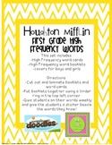 Houghton Mifflin First Grade High Frequency Assessment Booklet