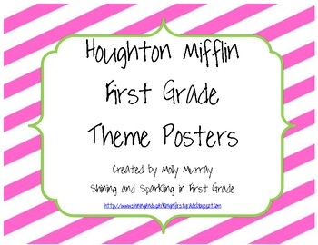 Houghton Mifflin First Grade Pink/Green Theme Posters