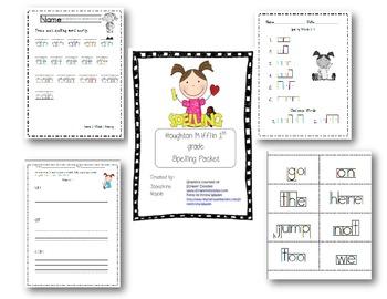 Houghton Mifflin First Grade Spelling Resource Packet