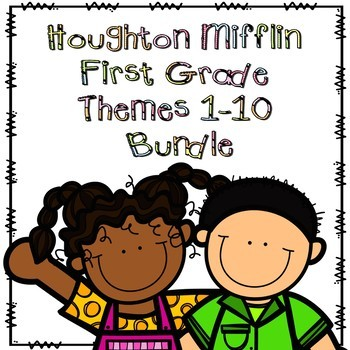 Houghton Mifflin First Grade Themes 1-10 Resource Pack Bundle