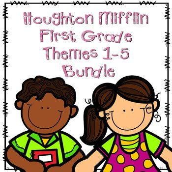 Houghton Mifflin First Grade Themes 1-5 Resource Pack Bundle
