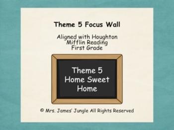 Houghton Mifflin Focus Wall Theme 5 First Grade