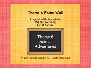 Houghton Mifflin Focus Wall Theme 6