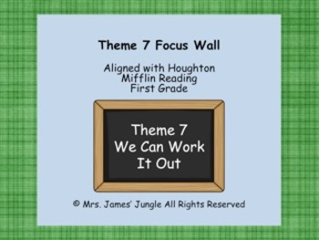 Houghton Mifflin Focus Wall Theme 7 First Grade