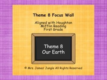 Houghton Mifflin Focus Wall Theme 8 First Grade