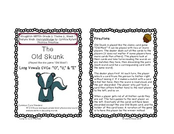 Houghton-Mifflin Grade 2 Theme 2 Games and Word Wall Cards (2006 Edition)