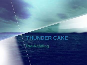 """Houghton Mifflin Grade 2:   """"Thundercake"""" Pre-Read/Vocab"""
