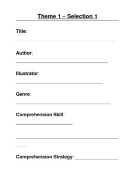 Houghton Mifflin Grade 3 Theme 1 Skills Focus Packet / Portfolio 18 Pg