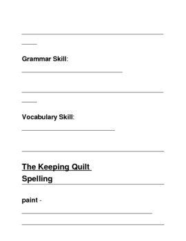 Houghton Mifflin Grade 3 Theme 2 Skills Focus Packet / Portfolio