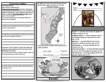 Houghton Mifflin *HMHCO* Social Studies 5th Grade - 13 Colonies Magazine 9