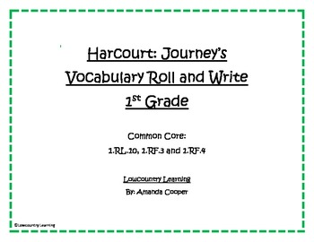 Houghton Mifflin Harcourt - 1st Grade Journey's Reading Series Roll and Write