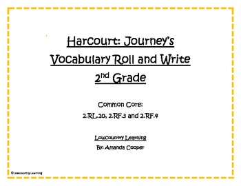 Houghton Mifflin Harcourt - 2nd Grade Journey's Reading Series Roll and Write
