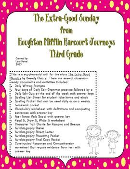 Houghton Mifflin Harcourt Journeys 2014 Grade 3 The Extra Good Sunday