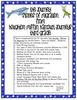 houghton mifflin harcourt journeys 2014 grade 3 the journey stories of migration. Black Bedroom Furniture Sets. Home Design Ideas