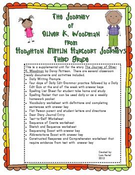 Houghton Mifflin Harcourt Journeys 2014 Grade 3 The Journey of Oliver K. Woodman