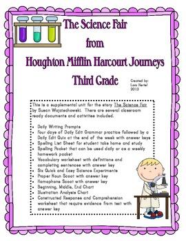 Houghton Mifflin Harcourt Journeys 2014 Grade 3 The Science Fair