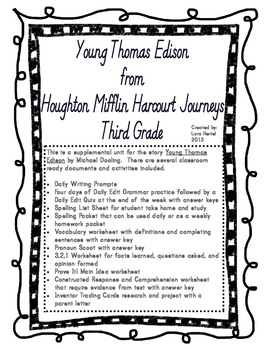 Houghton Mifflin Harcourt J... by Lora Hertel | Teachers Pay Teachers