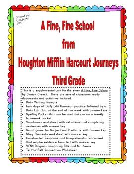 Houghton Mifflin Harcourt Journeys 2014Third Grade A Fine