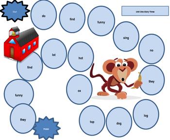 Houghton Mifflin Harcourt Journeys First Grade Board Games Unit One