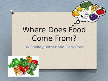 Houghton Mifflin Harcourt Journeys Where Does Food Come From? 1st grade