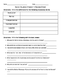 Houghton Mifflin Harcourt Social Studies Grade 4 NY Chapter 5: Review Sheet