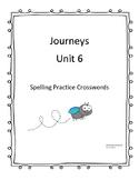 Houghton Mifflin Journey's Grade 1 Unit 6 Spelling Practice Word Search  NO PREP