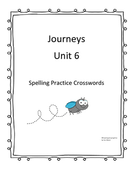 Houghton Mifflin Journey's First Grade Unit 6 Word Search