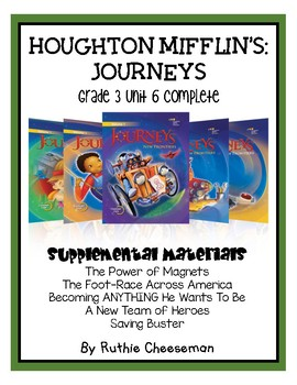 Journeys grade 3 the foot race across america teaching resources houghton mifflin journeys grade 3 unit 6 fandeluxe Gallery