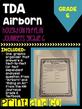 "Houghton Mifflin Journey's Grade ""Airborn"" Text Dependent Analysis"
