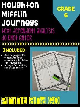 "Houghton Mifflin Journey's Grade ""Do Knot Enter"" Text Dependent Analysis"