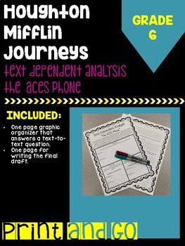 "Houghton Mifflin Journey's Grade ""The ACES Phone"" Text Dependent Analysis/Essay"