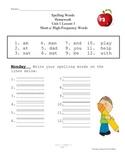 Houghton Mifflin Journeys 1st Grade Spelling Practice Unit