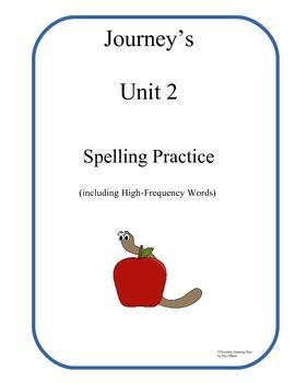 Houghton Mifflin Journeys 1st Grade Spellng Practice Unit