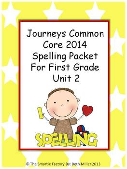 Journeys 2014 First Grade Spelling Packet Unit 2