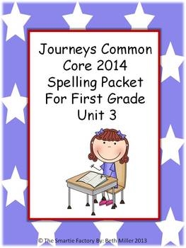 Journeys 2014 First Grade Spelling Packet Unit 3