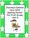 Journeys 2014 First Grade Spelling Packet Unit 4