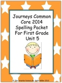 Journeys 2014 First Grade Spelling Packet Unit 5