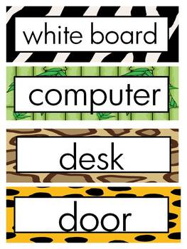 Journeys 2014 First Grade Word Wall (Jungle)